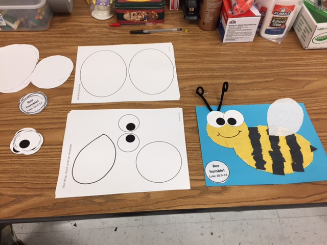 Paper Bee Craft Preschool Church Lesson S S Blog