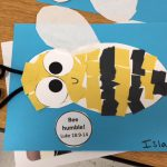 Paper Bee Craft – Preschool Church Lesson