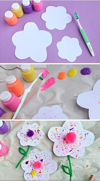 Paper Crafts Flower Paint