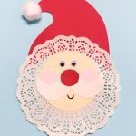 DIY Doily Santa Craft for Kids