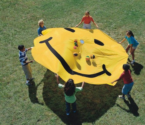 smiley face parachute