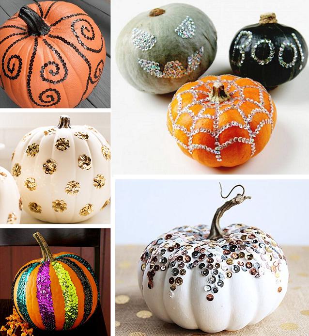 sparkle pumpkins