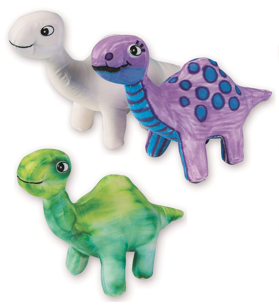 stuffed dinosaurs to color