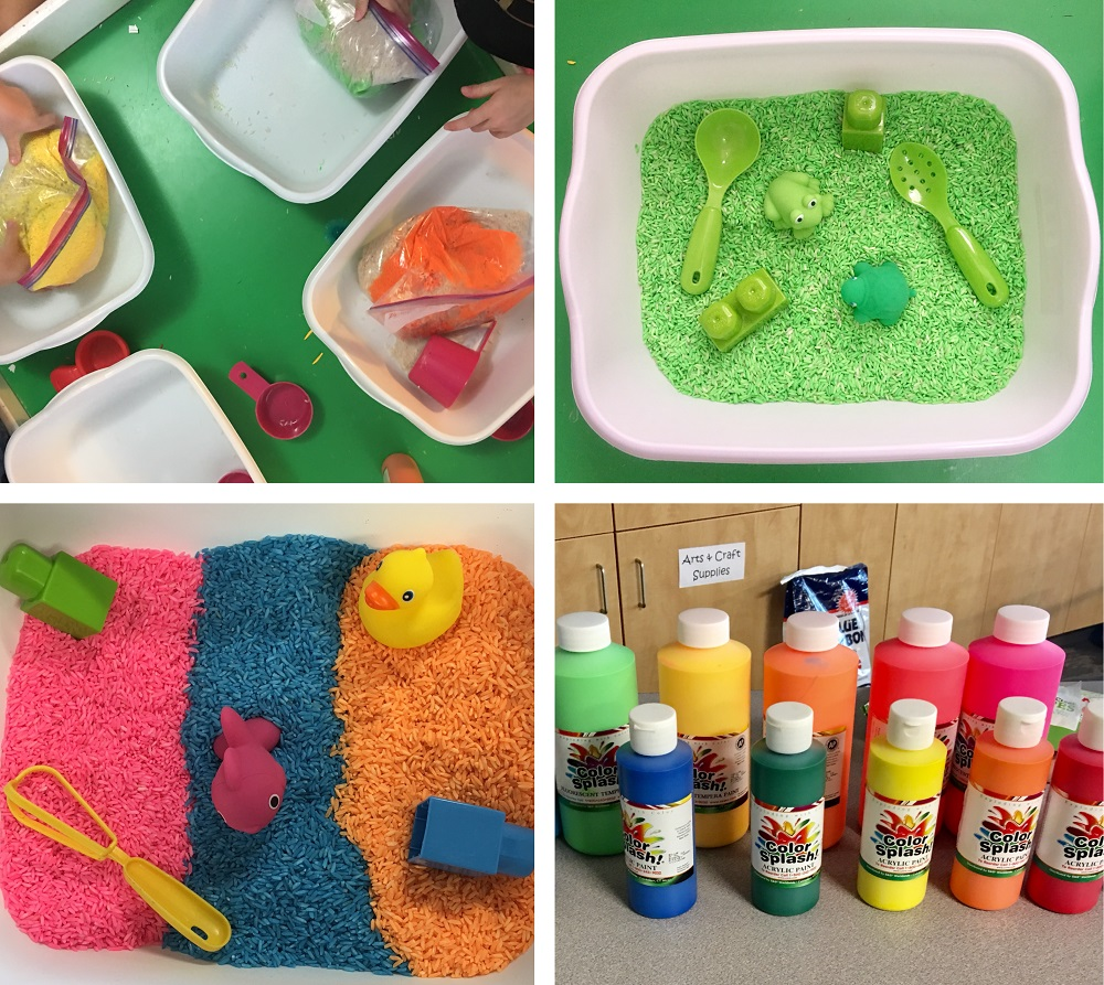 themed sensory tray
