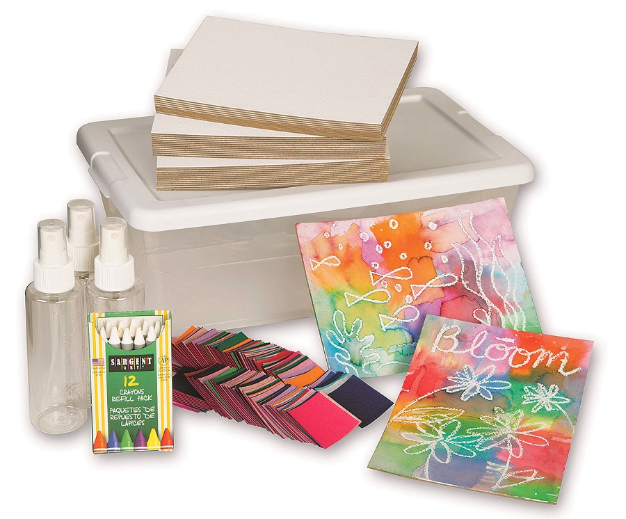 tissue paper painting craft activity