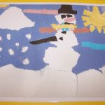 Torn Paper Art and Writing Lesson for Elementary School