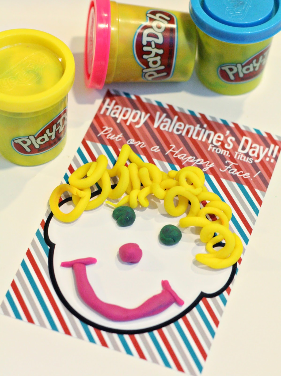vday play-doh ideas make a happy face
