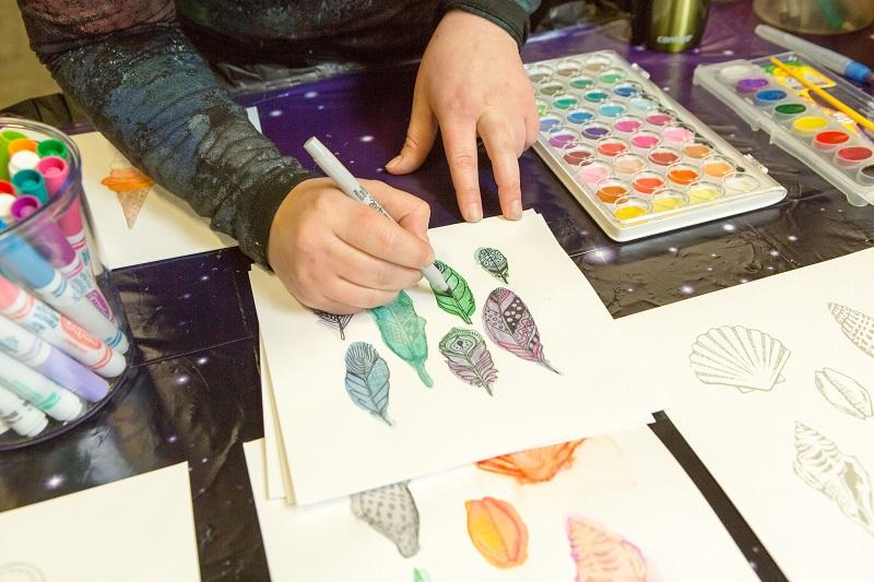 watercolor art starters craft