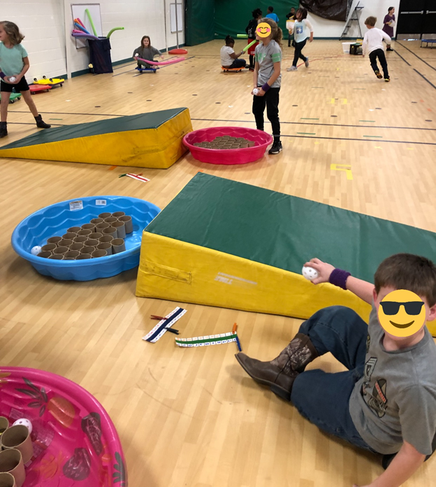 winter themed PE activity catching unit