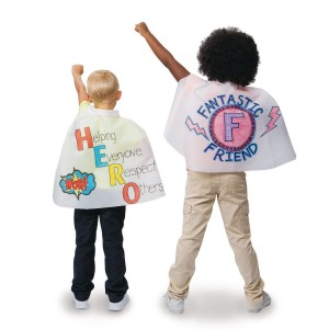 Buy color me super hero mini capes 18 l at s s worldwide for Hero central vbs crafts
