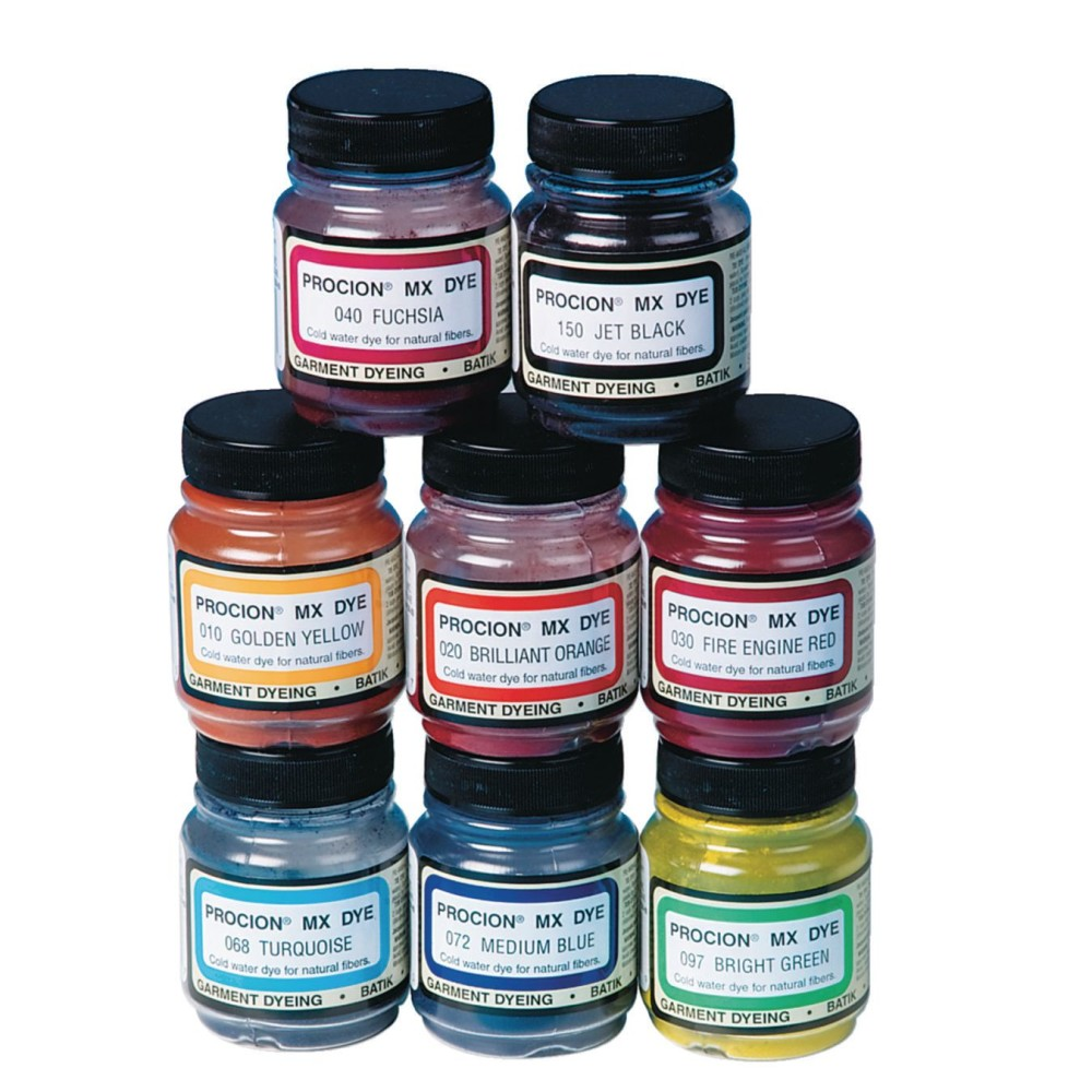 ''Procion Cold Water Dye, 2/3 oz., Assorted Colors (Set of 8)''