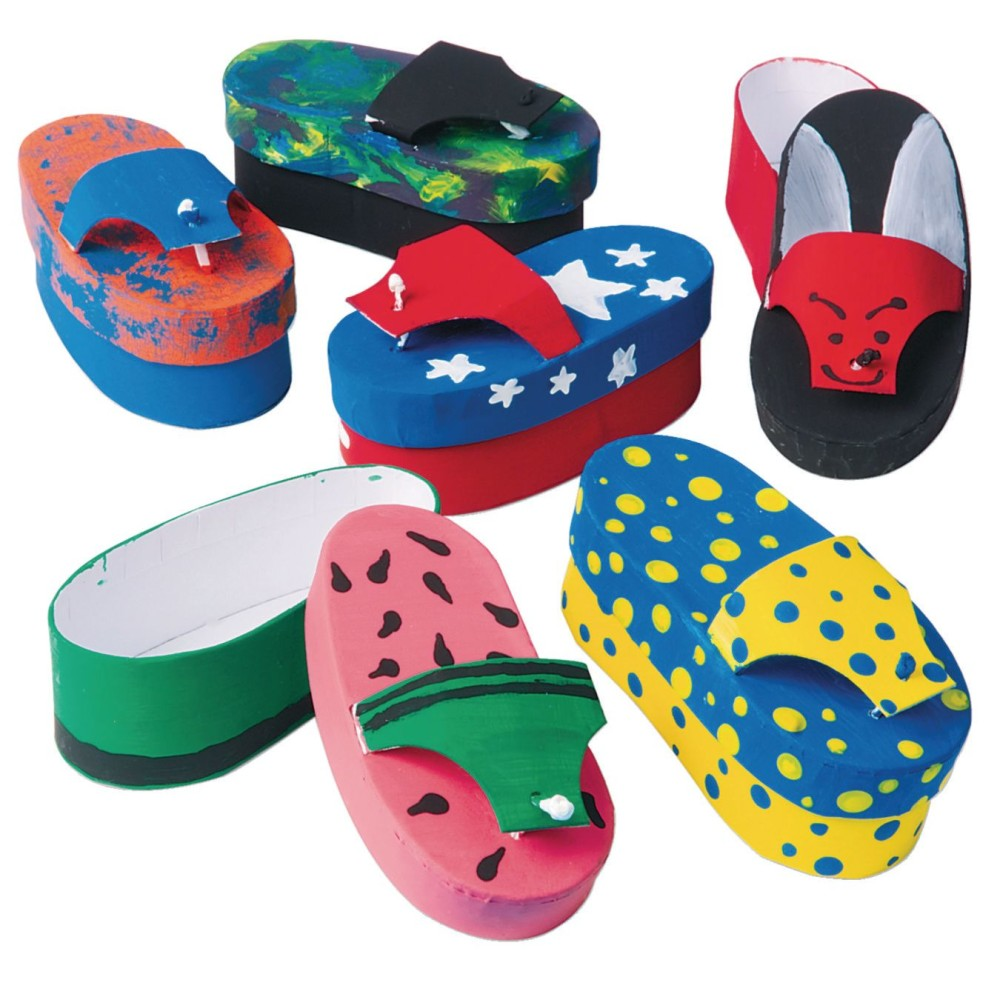 Paper Mache FLIP-FLOP Box Craft Kit (Pack of 12)