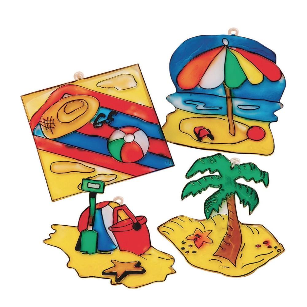 Beach Sun Catchers Craft Kit (Pack of 48)