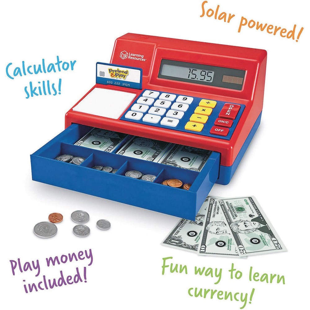 Learning Resources Pretend & Playa Calculator Cash Register