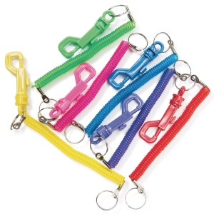 Coiled Clip KEYCHAINs