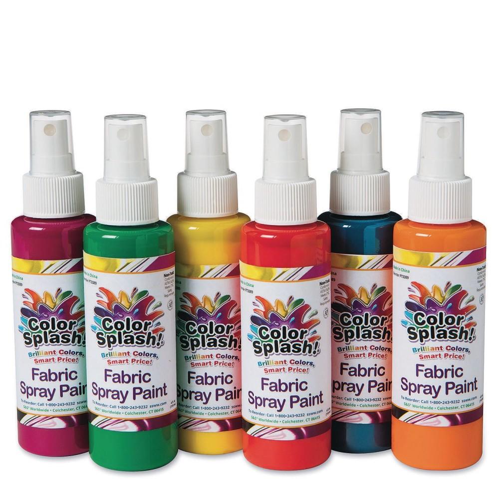 ''Color Splash!® Fabric Spray Paint Assortment, 4 oz. (Pack of 6)''
