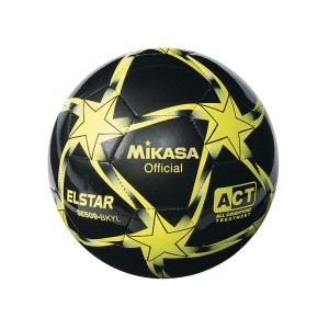 ''Mikasa® Elstar Soccer Ball Size 5, Black/Yellow''