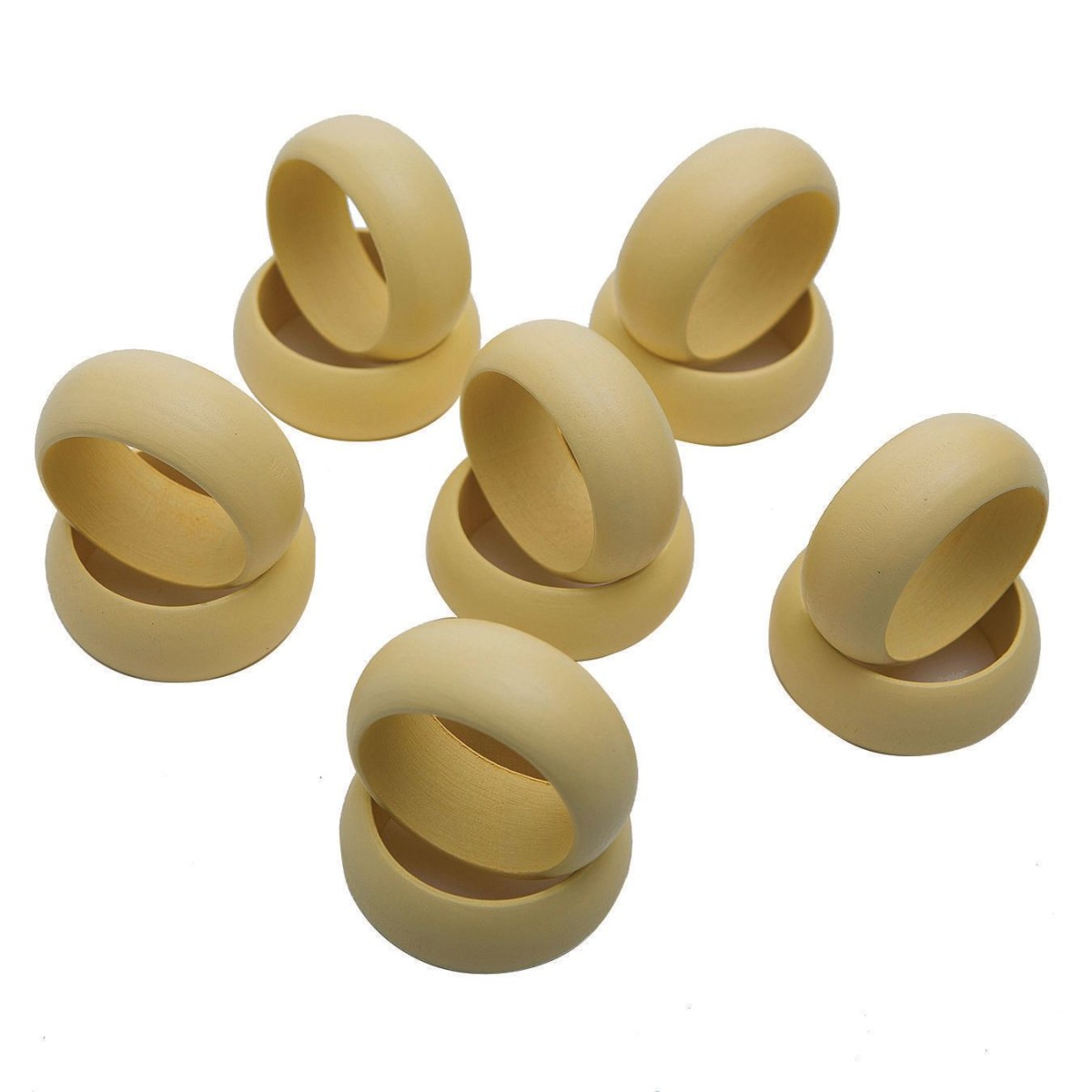 Small Wooden BANGLE Bracelet (pack of 12)